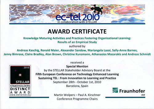 STELLAR Stakeholders Distinct Award